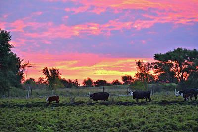 Photograph - Sunrise Lineup by Bonfire Photography