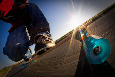 Photograph - Sunrise Longboarding by Will Gudgeon