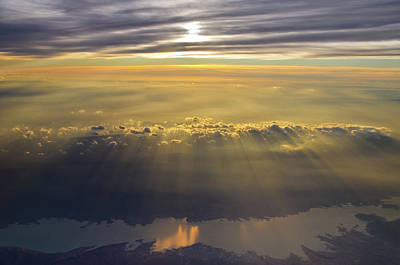 Photograph - Sunrise From 30,000 Feet by Michael Balen