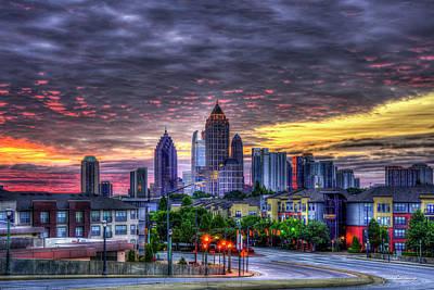 Photograph - Sunrise Midtown Atlanta Rising Over Atlantic Commons Art by Reid Callaway