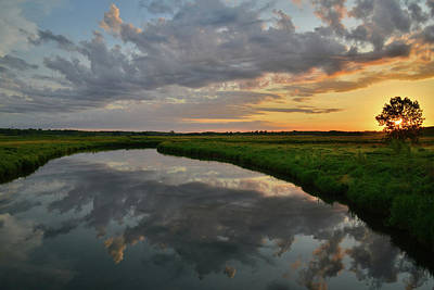 Photograph - Sunrise Mirror Image In Glacial Park by Ray Mathis