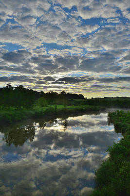 Photograph - Sunrise Mirror Image On Nippersink Creek by Ray Mathis