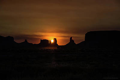 Photograph - Sunrise Monument Valley by Phil Abrams