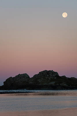 Photograph - Sunrise Moonset At Pyramid Point by Loree Johnson