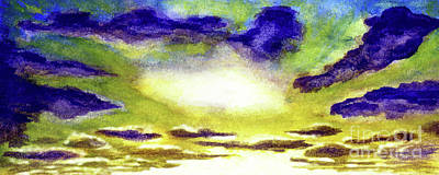 Painting - Sunrise Morning Bliss Painting A1 by Ricardos Creations
