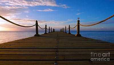 Photograph - Sunrise Morning Bliss Pier 140a by Ricardos Creations