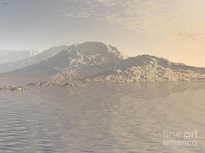 Digital Art - Sunrise Mountains Landscape by Phil Perkins