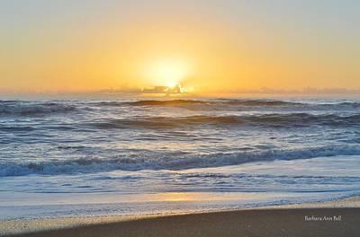 Photograph - Sunrise Nags Head 2/25 by Barbara Ann Bell
