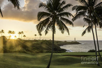 Photograph - Sunrise Ninini Point, Kauai by Gary Beeler