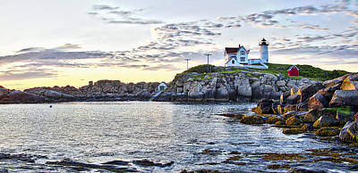 Photograph - Sunrise Nubble Lighthouse - York - Maine by Steven Ralser