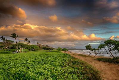 Photograph - Sunrise Nukolii Beach Kauai Hawaii 7r2_dsc4068_01082018 by Greg Kluempers
