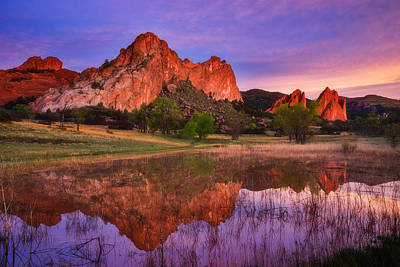 Garden Of The Gods Photograph - Sunrise Of The Gods by Darren  White
