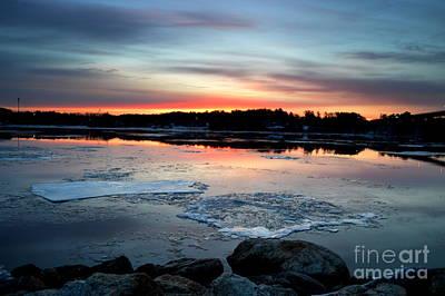 Sunrise Of The River Art Print by Julie Hodgkins