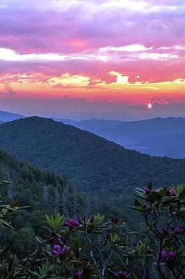 Photograph - Sunrise Off The Blue Ridge Parkway North Carolina by Carol Montoya