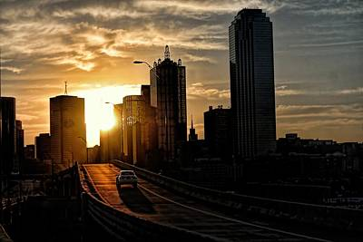 Photograph - Sunrise Off The Margaret Hunt Hill Bridge by Diana Mary Sharpton