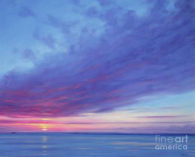 Rising Sun Painting - Sunrise Off Treasure Cay by Derek Hare