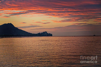Photograph - Sunrise Off Waikiki Beach by Jon Burch Photography