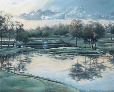 Painting - Sunrise On 18 by Katrina Nixon