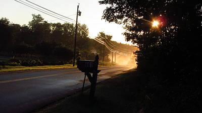 Sunrise On A Country Road Art Print