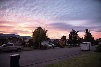 Photograph - Sunrise On A Quiet Street by Tom Cochran