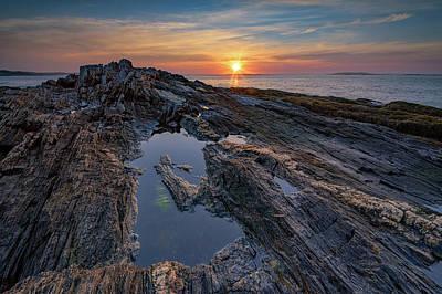 Photograph - Sunrise On Bailey Island by Rick Berk