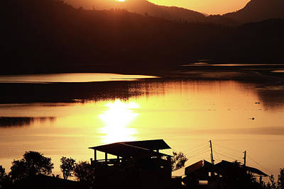 Photograph - Sunrise On Begnas Lake, The Himalayas, Nepal by Aidan Moran