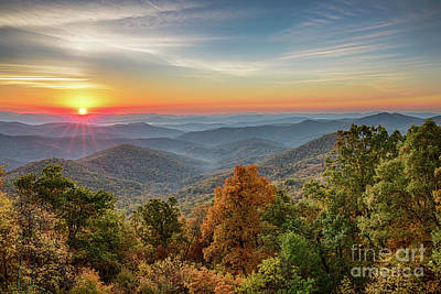 Photograph - Sunrise On Blue Ridge Parkway by Jennifer Ludlum