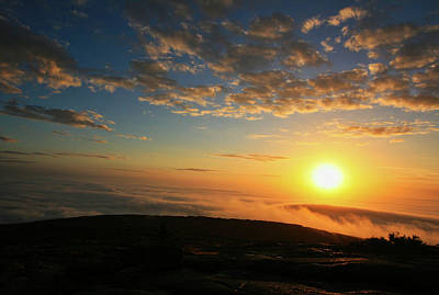 Sunrise On Cadillac Mountain Art Print