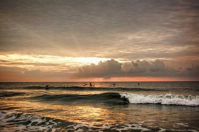 Sunrise On Carolina Beach North Carolina Art Print