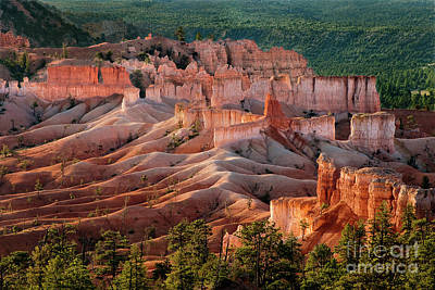 Photograph - Sunrise On Distant Hoodoos In Bryce Canyon National Park Utah by Dave Welling