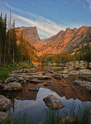 Sunrise On Dream Lake Art Print