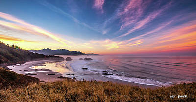 Photograph - Sunrise On Ecola State Park by Walt Baker