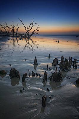 Sunrise On Edisto Island Art Print by Rick Berk