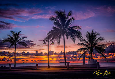 Photograph - Sunrise On Fort Lauderdale Beach by Rikk Flohr