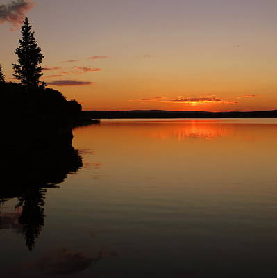 Photograph - Sunrise On Heart Lake by Karen Shackles