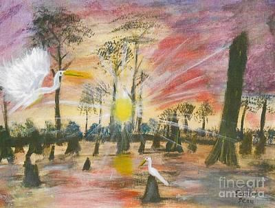 Acadian Painting - Sunrise On Highway 190 by Seaux-N-Seau Soileau