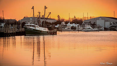 Photograph - Sunrise On Hyannis Harbor by Walt Baker