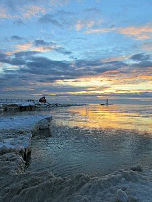 Photograph - Sunrise On Ice by Greta Larson Photography
