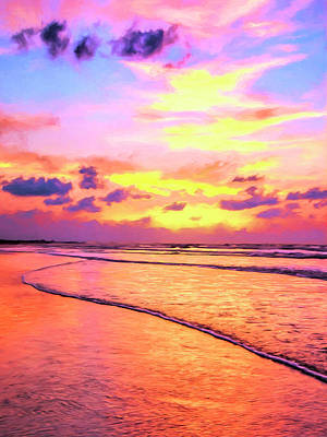 Isle Of Palms Painting - Sunrise On Isle Of Palms by Dominic Piperata