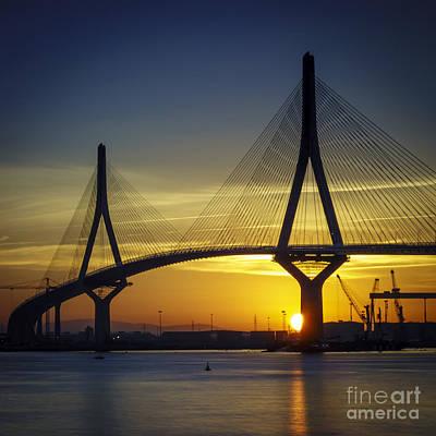 Photograph - Sunrise On La Pepa Bridge Cadiz Spain by Pablo Avanzini