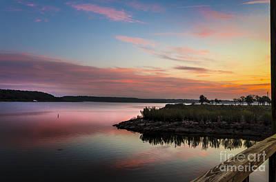 American Milestones - Sunrise On Lake Brownwood by Bob Marquis