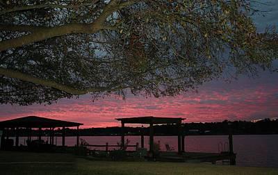Digital Art - Sunrise On Lake Conroe by Ellen Barron O'Reilly