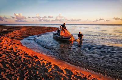 By Jackie Photograph - Sunrise On Lake Erie by Jackie Sajewski