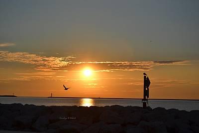 Wall Art - Photograph - Sunrise On Lake Michigan by Carolyn Hebert