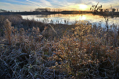 Photograph - Sunrise On Lakewood Forest Preserve Lake by Ray Mathis