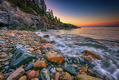 Maine Beach Photograph - Sunrise On Little Hunters Beach by Rick Berk