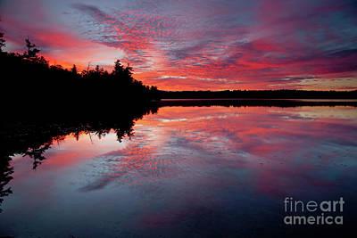 Photograph - Sunrise On Little Sunapee by Butch Lombardi