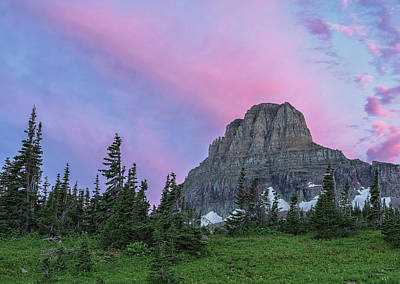 Photograph - Sunrise On Logan Pass by Morris McClung