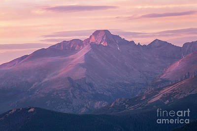 Photograph - Sunrise On Longs Peak , Rocky Mountain Natinal Park, Colorado by Ronda Kimbrow