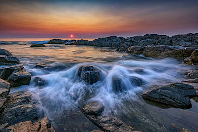 Photograph - Sunrise On Marginal Way II by Rick Berk